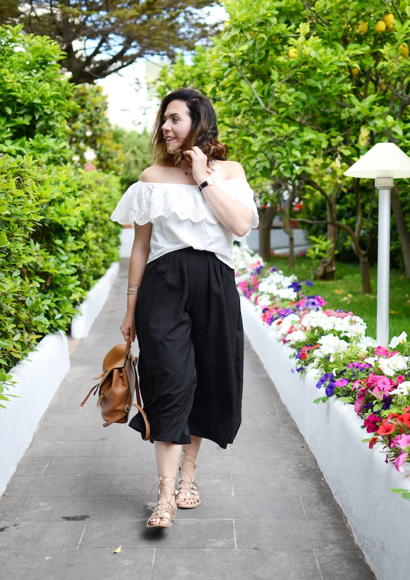 Capri Hotel Paziella cute travel outfit idea culottes Vancouver fashion blogger