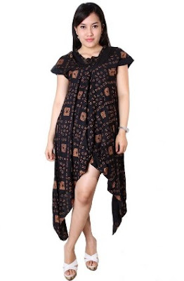 Gaun batik untuk remaja muda modis