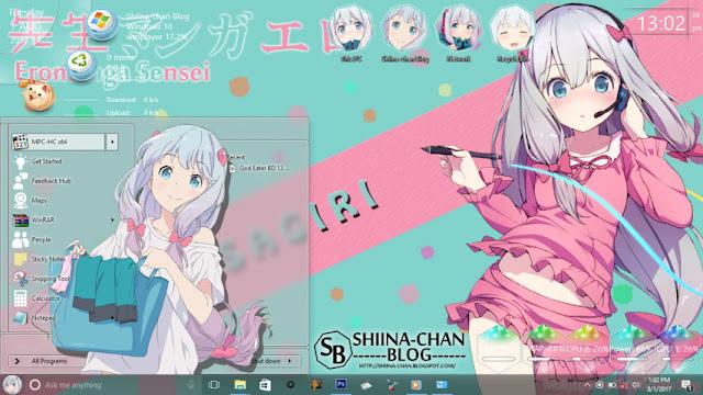 Windows 10 Ver. 1607 Theme Eromanga Sensei by Enji Riz