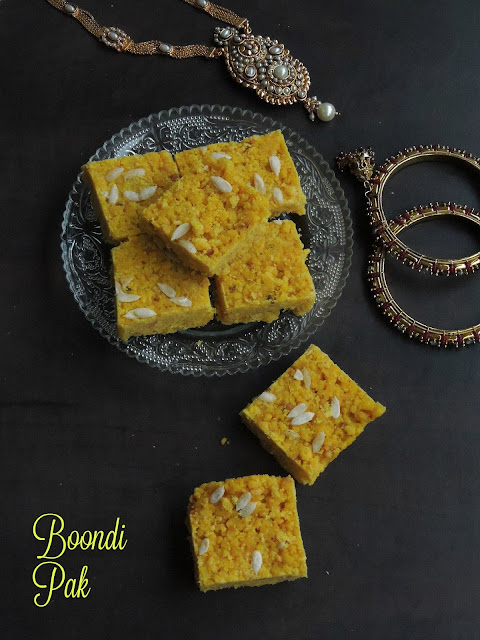 Boondi Pak,Boondhi Pak,Sweet Boondi Squares.jpg