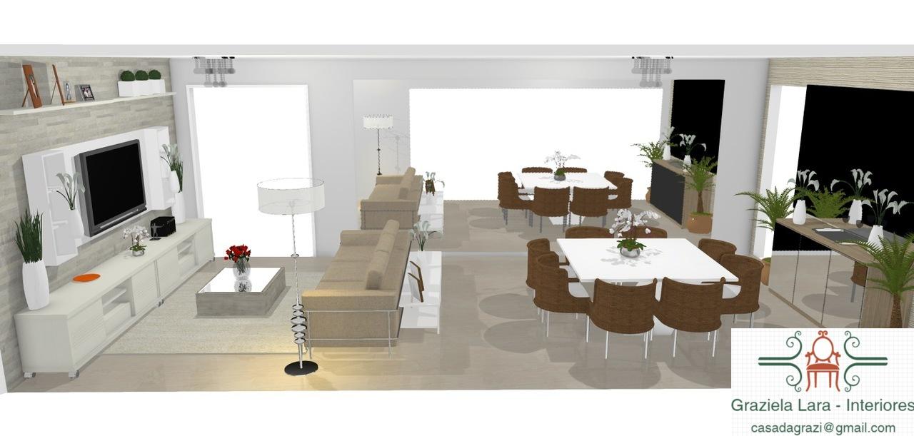 Construindo minha casa clean consultoria de decora o 3d for Sala de estar funcional