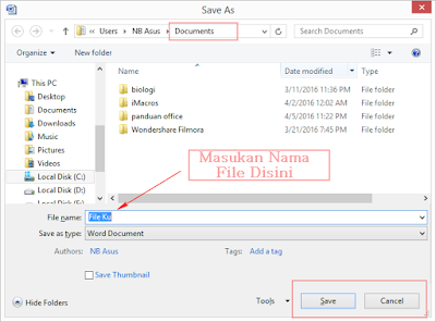 Cara Menyimpan Dokumen pada Microsoft Word