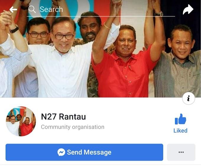 Facebook Page Milik Calon PH Rantau, Menipu Cek Sumbangan