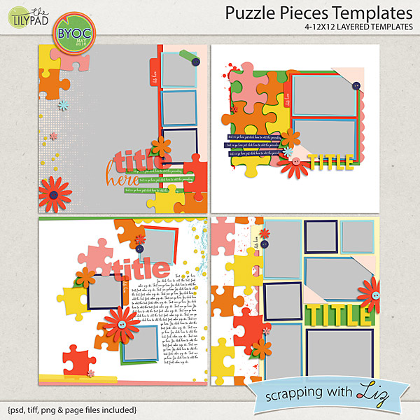 http://the-lilypad.com/store/Puzzle-Piece-Digital-Scrapbook-Templates.html