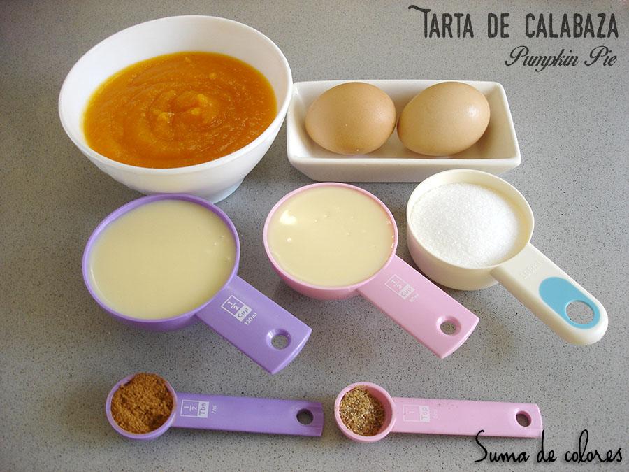 Pastel de calabaza (Ingredientes relleno)