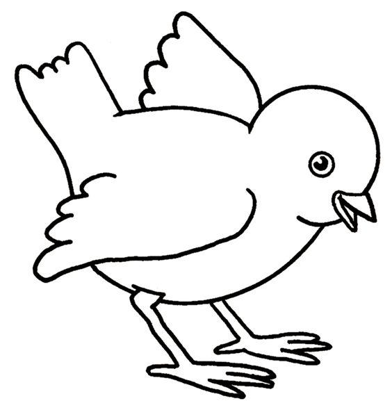 Tranh tô màu con chim đang đứng