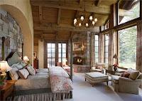 Habitación con chimenea