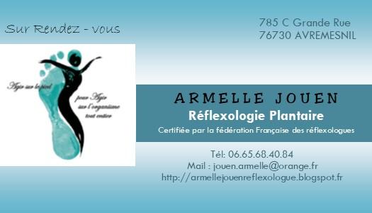 Armelle Jouen Reflexologue Carte De Visite