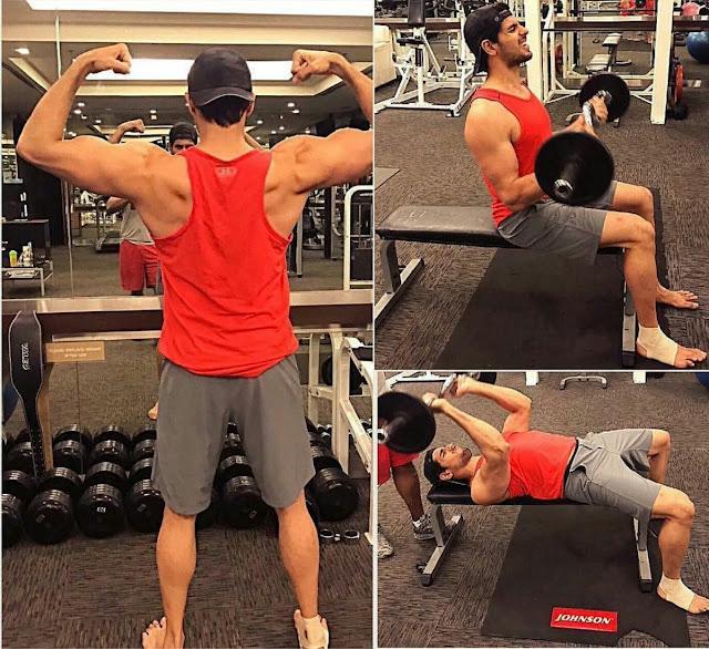 Photos: Siddharth Malhotra's Workout at a Gym