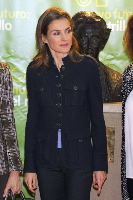 Queen Sofia and Princess Letizia of Spain attended Rastrillo Nuevo Futuro in Madrid
