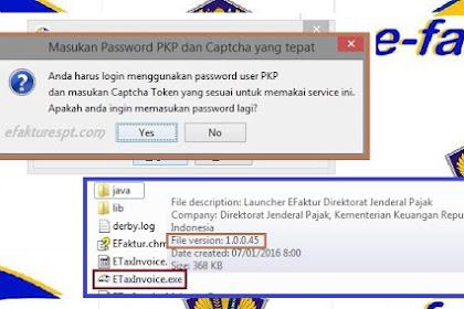 Solusi Registrasi e-Faktur Selalu Salah Password PKP dan Captcha