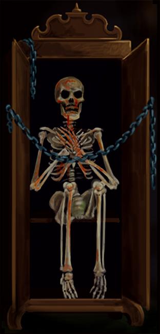 skeletter i skabet