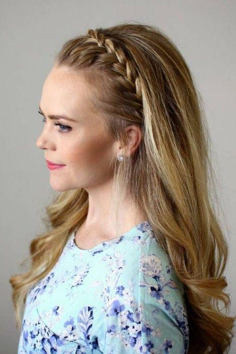 Peinados Diadema Pelo Suelto - Peinado diadema romántica con trenza irregular YouTube