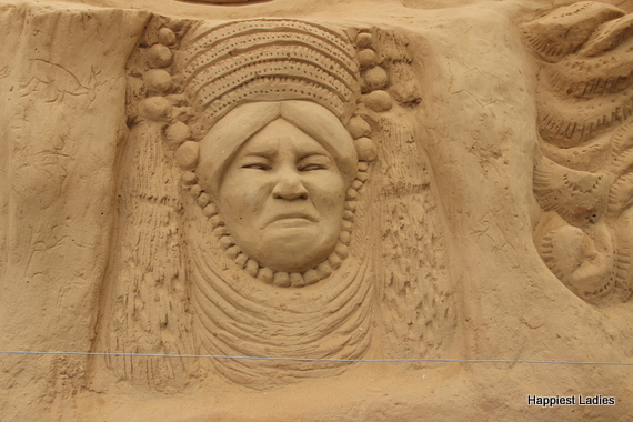 tribal people - sand art