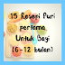 15 resepi puri pertama untuk bayi (6-12bulan)