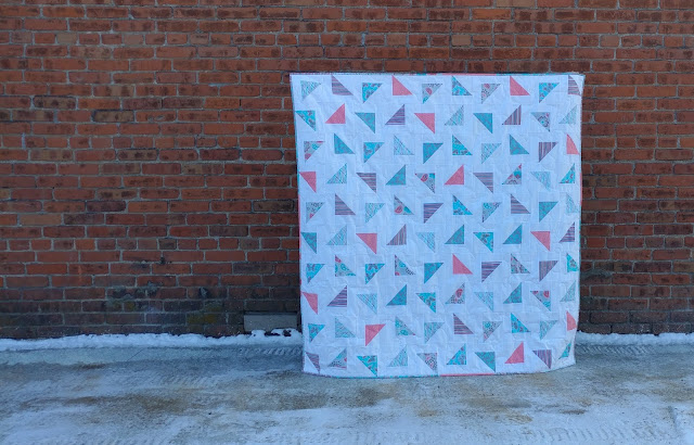 Flying Confetti quilt from Turnabout Patchwork book