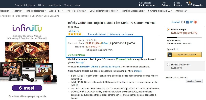 Il blog di alessio fasano promozione infinity cofanetto for Offerta buoni regalo amazon