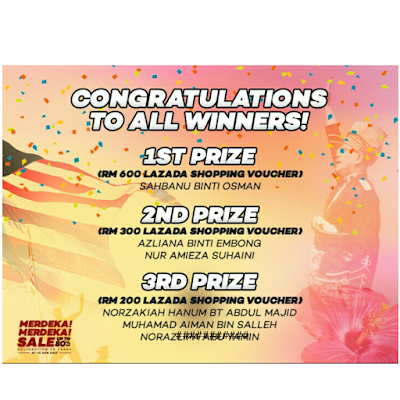 Menang Merdeka Blogger Contest Lazada