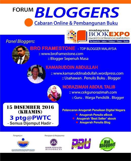 Forum Bloggers di Ekspo Buku Malaysia