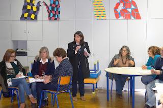 Foto relativa à quinta sessão, incluindo a formadora- Dra. Mafalda Alexandre e algumas das formandas