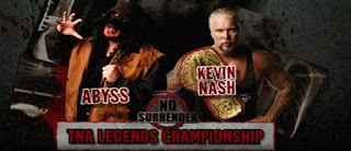 TNA No Surrender 2009 PPV Review - Legends Title: Abyss vs. Kevin Nash