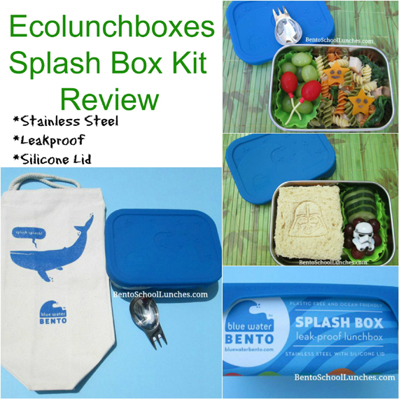 Ecolunchboxes Blue Water Bento Splash Box Kit Review