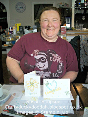Stampin' Up! UK Independent Demonstrator Susan Simpson, Craftyduckydoodah!, Sunshine Sayings, Falling Petals TIEF, Coffee & Cards project April 2017, Supplies available 24/7 from my online store,