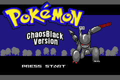 Pokemon Chaos Black Version Gba Hack Pocketmonsters