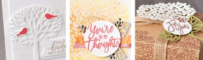Stampin' Up! Thoughtful Branches Bonus Projects www.juliedavison.com free project sheets with any order