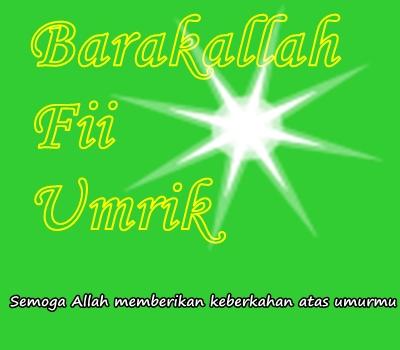 Ucapan Ulang Tahun Islami Barakallah