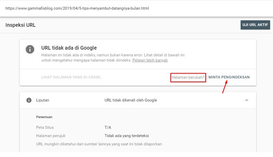 Submit URL Artikel Pada Google Search Console