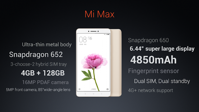 Xiaomi Mi Max Specifications