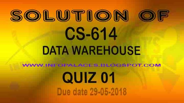 CS 614 Quiz 1 Solution Spring 2018