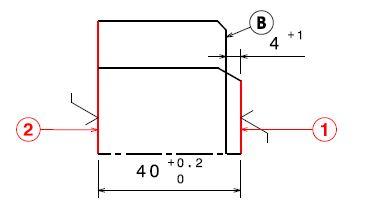Contrat de phase liaison entre deux surface usinée