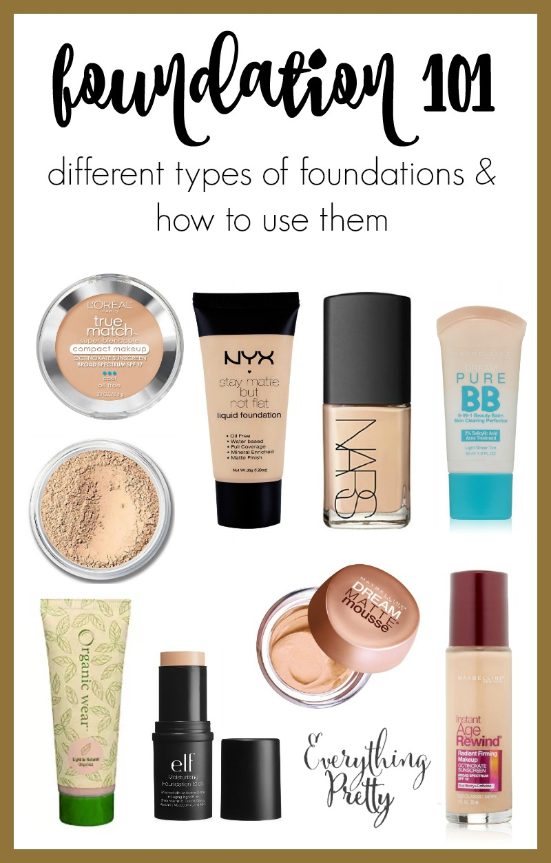 types of makeup foundation and their uses saubhaya makeup