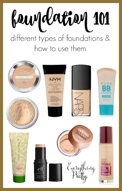 Foundation 101:  Different types of foundations and how to use them.