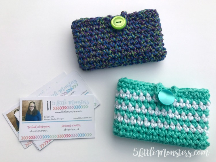5 Little Monsters Simple Crocheted Card Holder