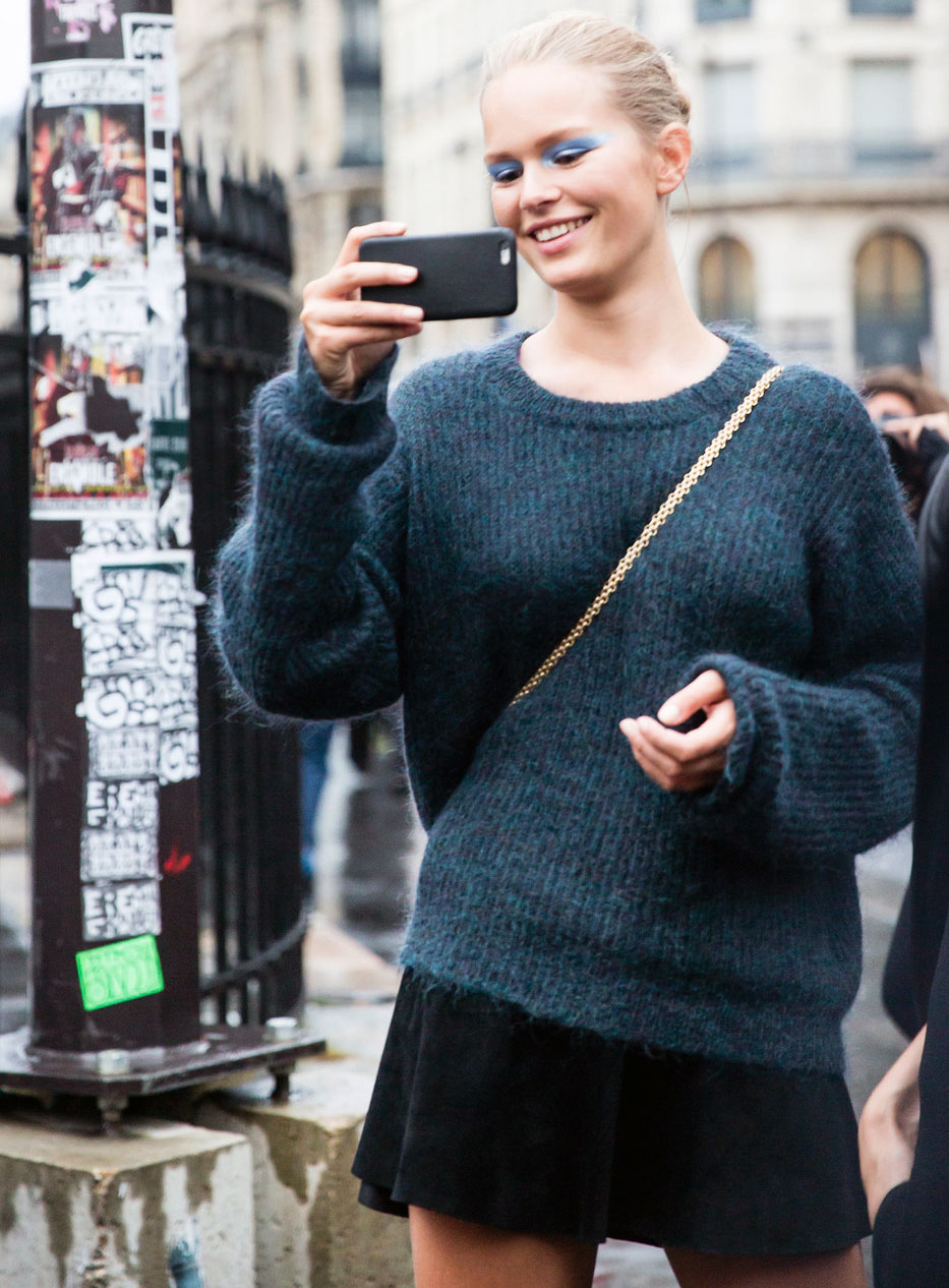 Couture A/W 2016 Street Style: Anna Ewers