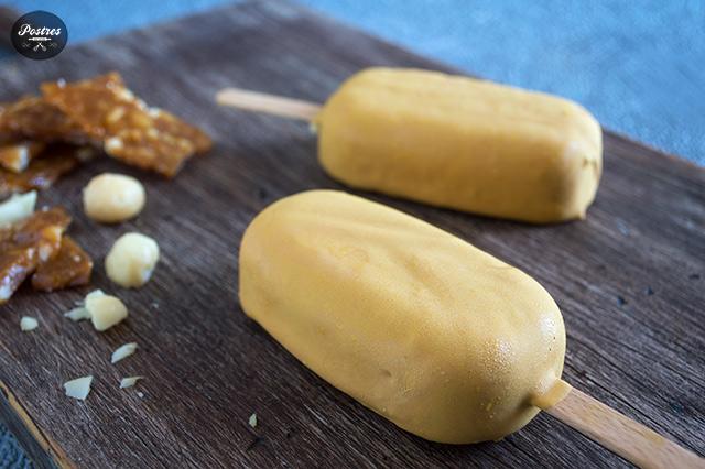 Receta Helado tipo magnum Macadamia Nut Brittle