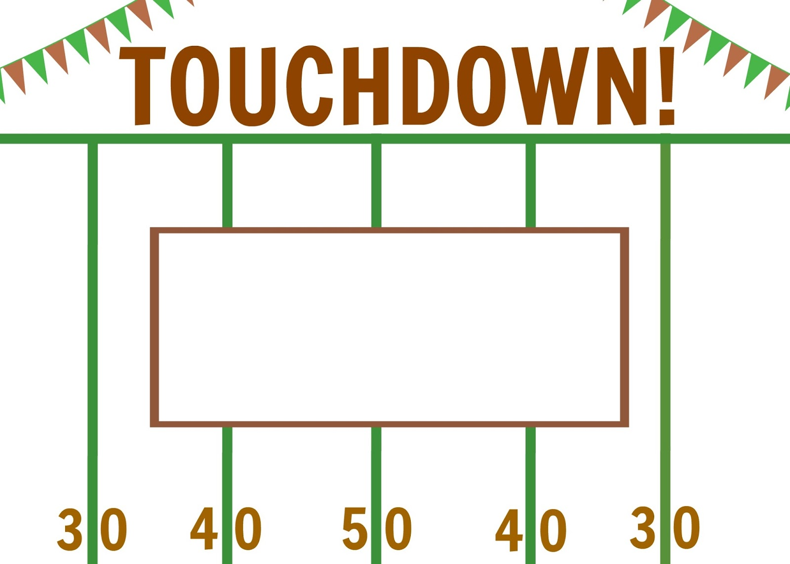 Football Themed Printable Placemats The Chirping Moms