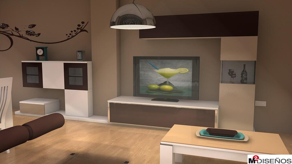 Salon Comedor En Tonos Beige Moka Y Con Decoraciones Turquesa M2 - Salones-blanco-y-beige