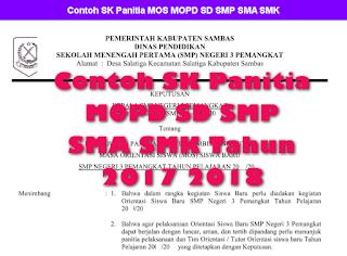 Contoh SK Panitia MOPD