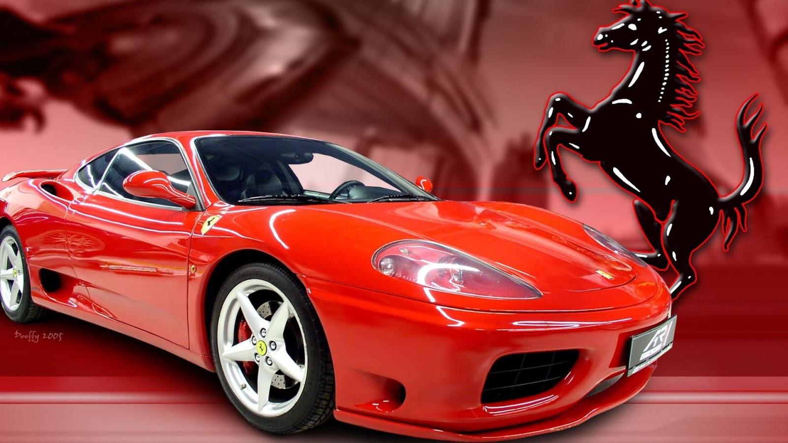 Fashion Show Mall Jobs Red Ferrari Car Logo Wallpaper
