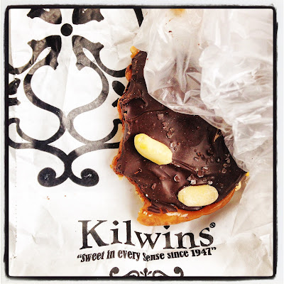 Kilwin's Candy Store dark chocolate turtle with sea salt