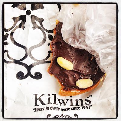 Kilwin's Candy Store dark chocolate turtle with sea salt