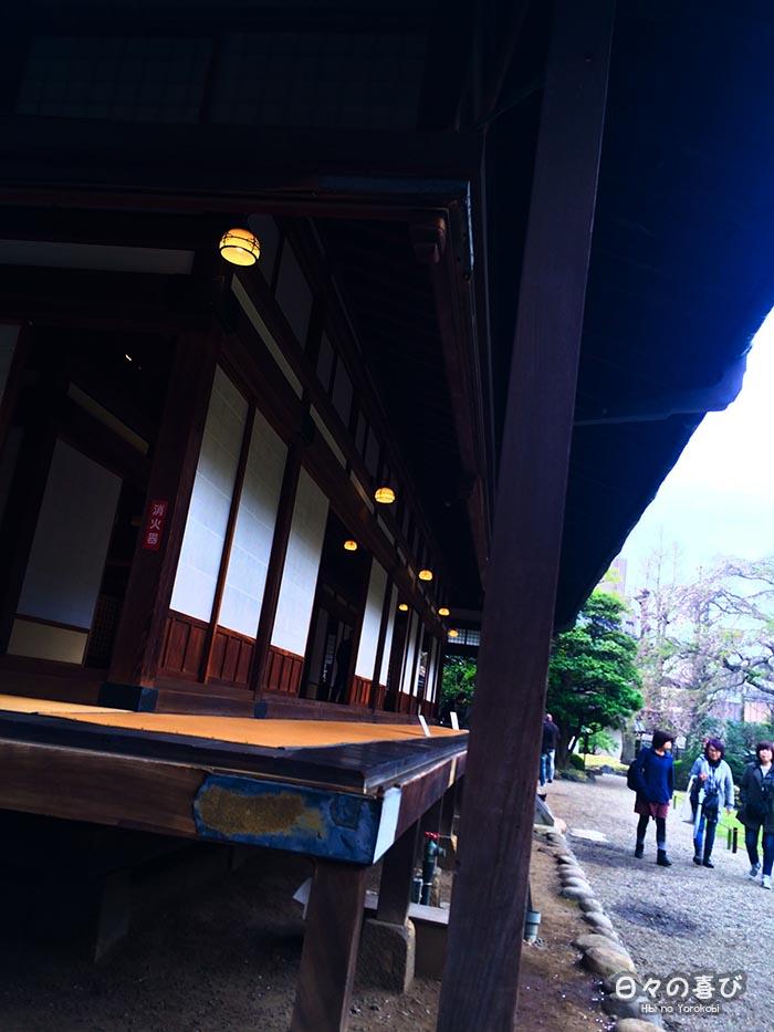 pavillon en bois perspective à contre-jour