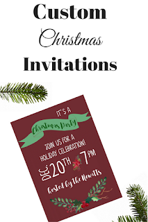 Customized Invitations for your next party! Perfect for Christmas!