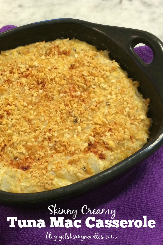 Skinny Noodles Shirataki: Skinny Creamy Tuna Mac Casserole with ...