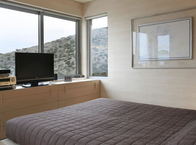 Modern villa, Greece, bedroom