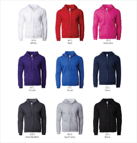 HOODED SWEATSHIRT COLOR